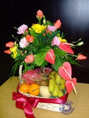 [싱가포르]꽃과 과일바구니