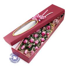 [중국]꽃박스[핑크장미]