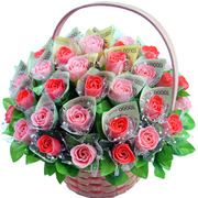 비누꽃-돈꽃바구니(핑크의향연)