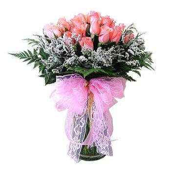 핑크장미혼합꽃병